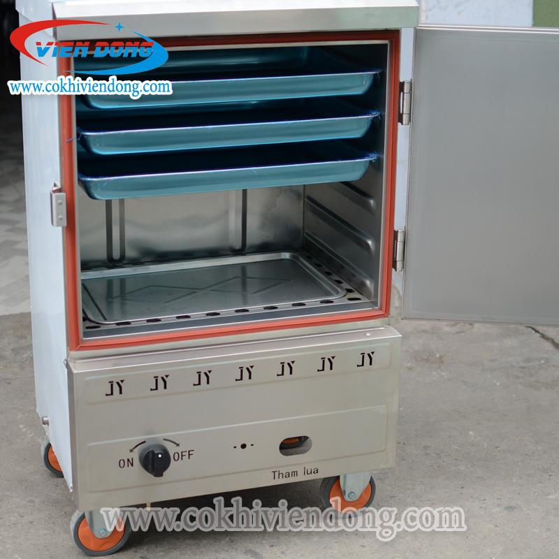 Tủ hấp cơm công nghiệp dùng gas