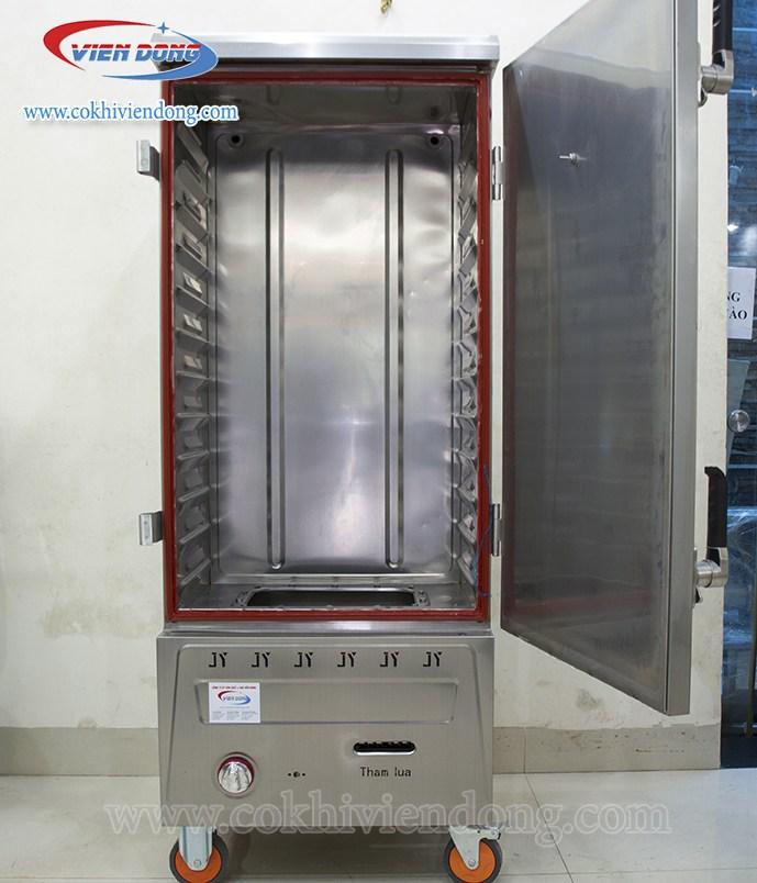 Tủ hấp công nghiệp bằng gas 12 khay Trung Quốc