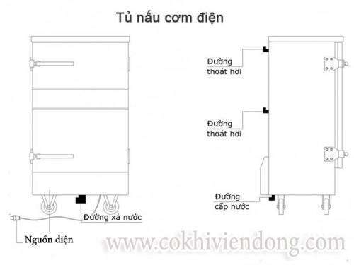 Tủ nấu cơm điện 24 khay Việt Nam