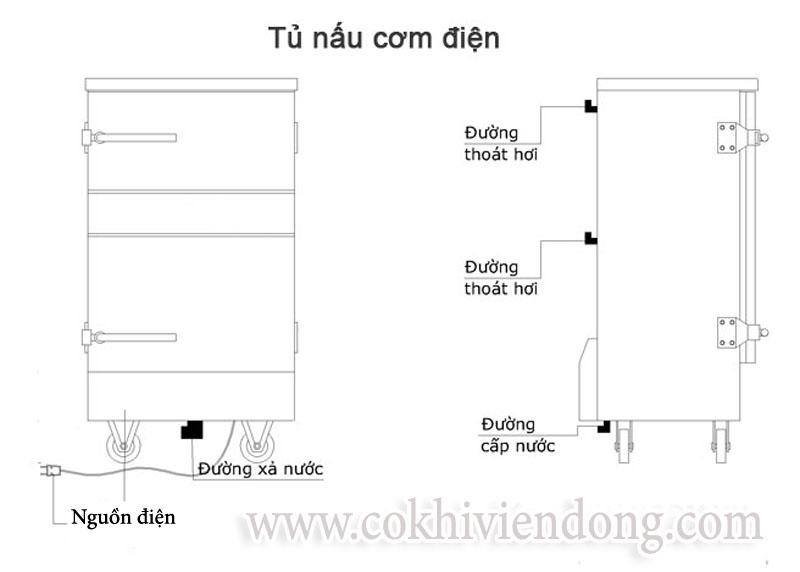Tủ nấu cơm điện 8 khay Việt Nam
