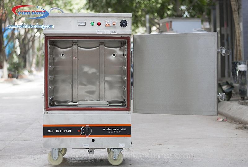 tủ hấp 6 khay điện gas