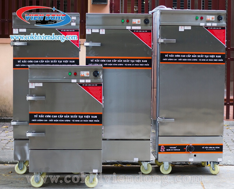 tủ nấu cơm dùng điện Gas