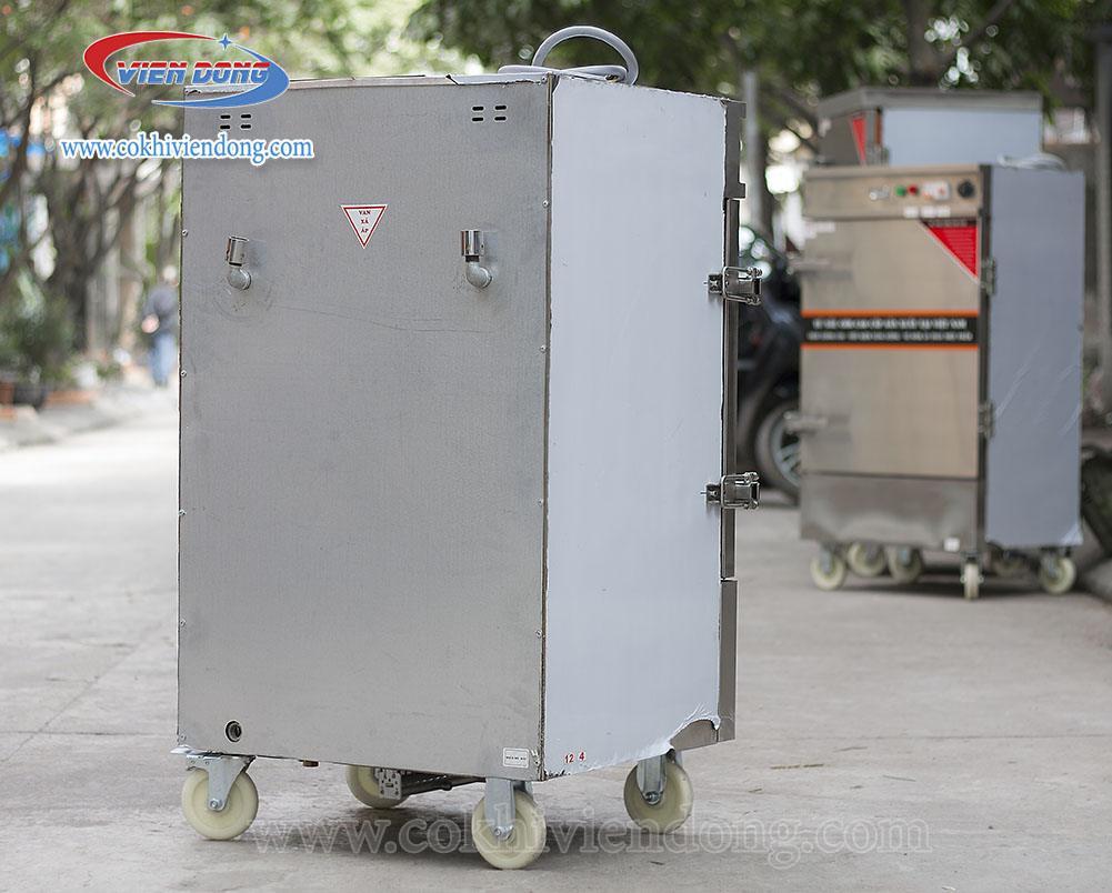 tủ hấp dùng điện gas