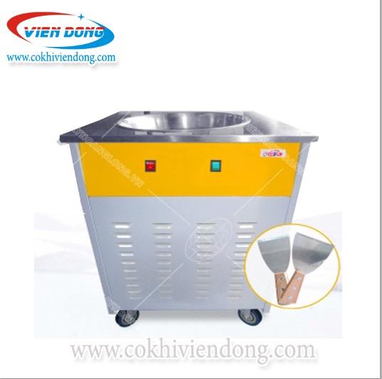 máy làm kem cuộn 1 chảo