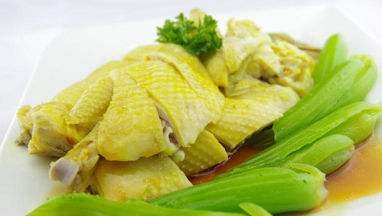 cách làm món gà hấp cải bẹ xanh