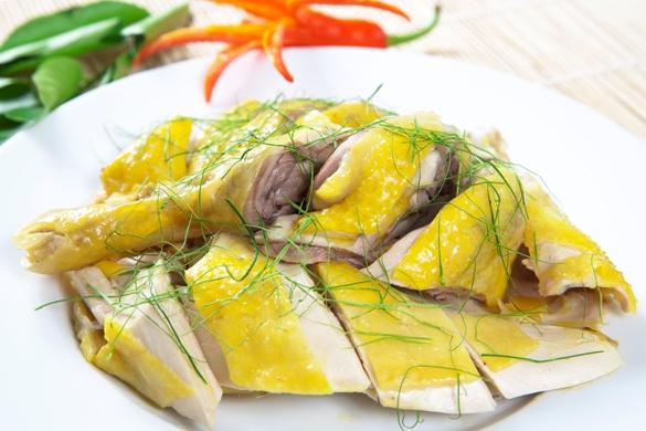 cách nấu gà hấp sả bằng tủ nấu cơm
