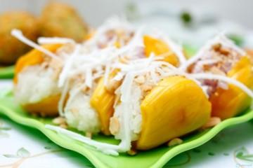 Cách làm món xôi mít hấp cốt dừa