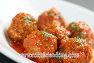 Thịt viên cà chua đơn giản mà ngon mê hoặc
