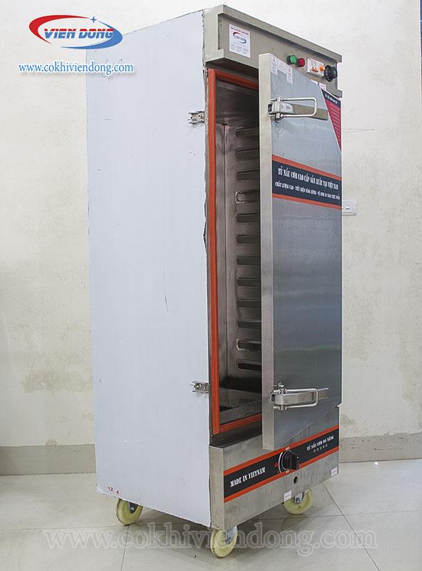 Tủ hấp xúc xích Việt Nam bằng điện và gas