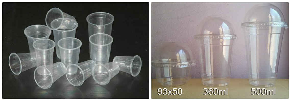 Cốc nhựa có nắp và cốc dùng cuộn màng máy ép ly