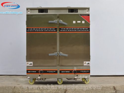 Tủ nấu cơm Việt Nam kết hợp điện và gas 24 khay