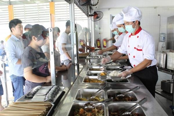 bếp ăn công nghiệp của doanh nghiệp, trường học