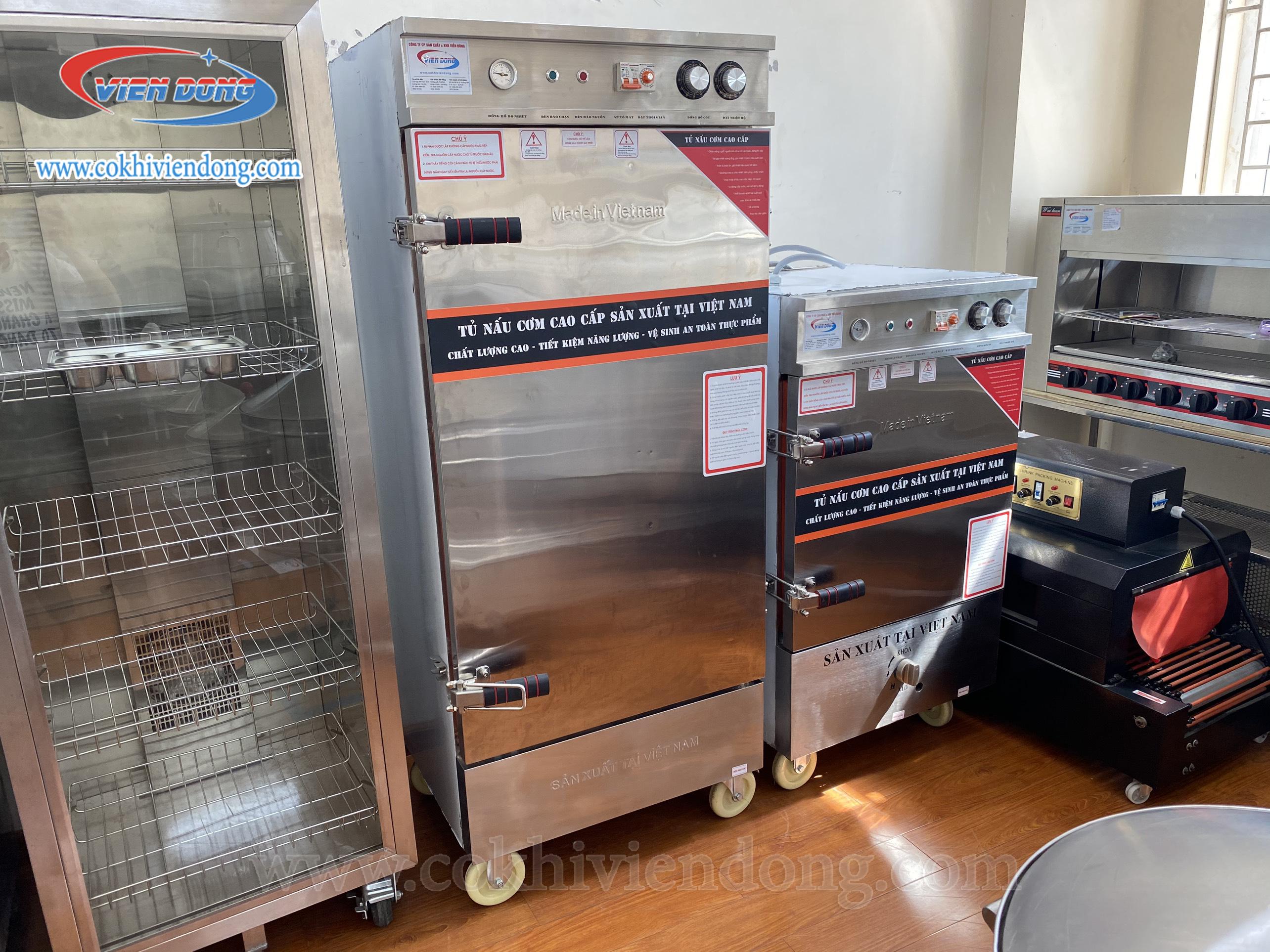Tủ nấu cơm điện Việt Nam 10 khay (30Kg/mẻ)