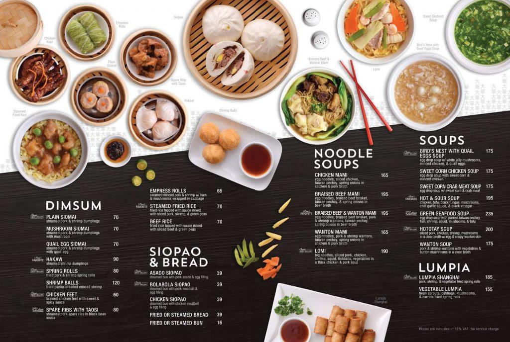 menu quán ăn mẫu