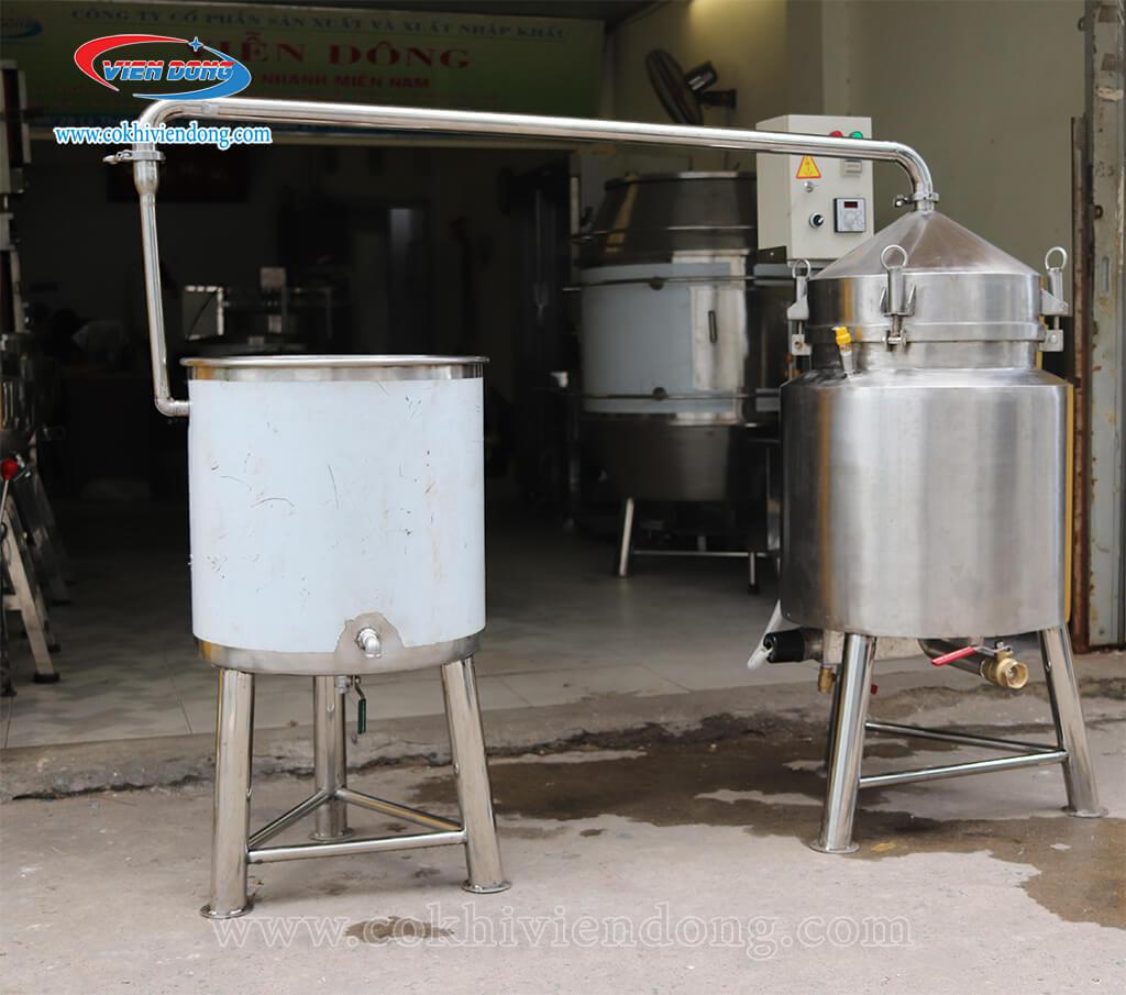 Máy nấu rượu 20kg có cấu tạo đơn giản