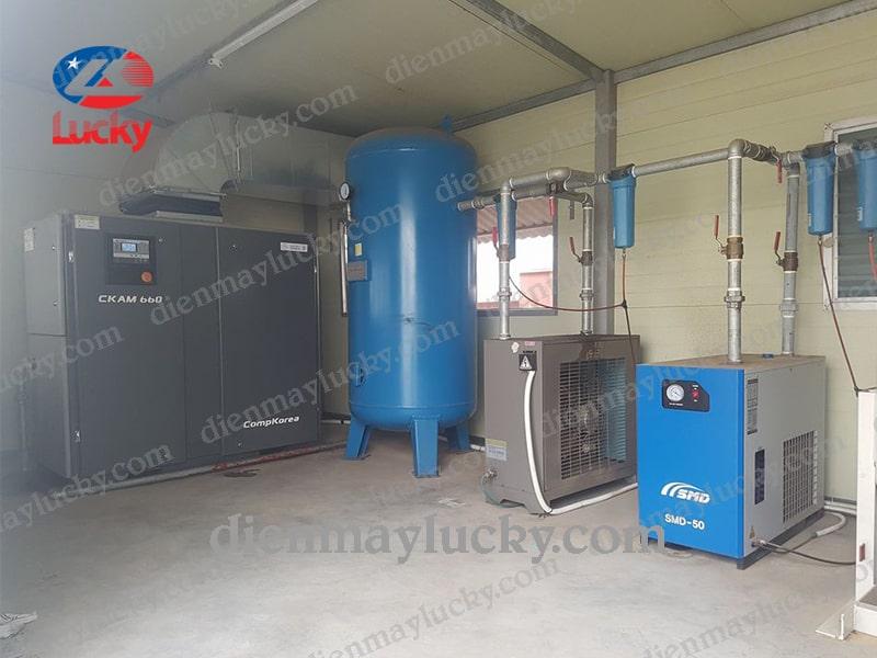 máy nén khí trục vít Hàn Quốc
