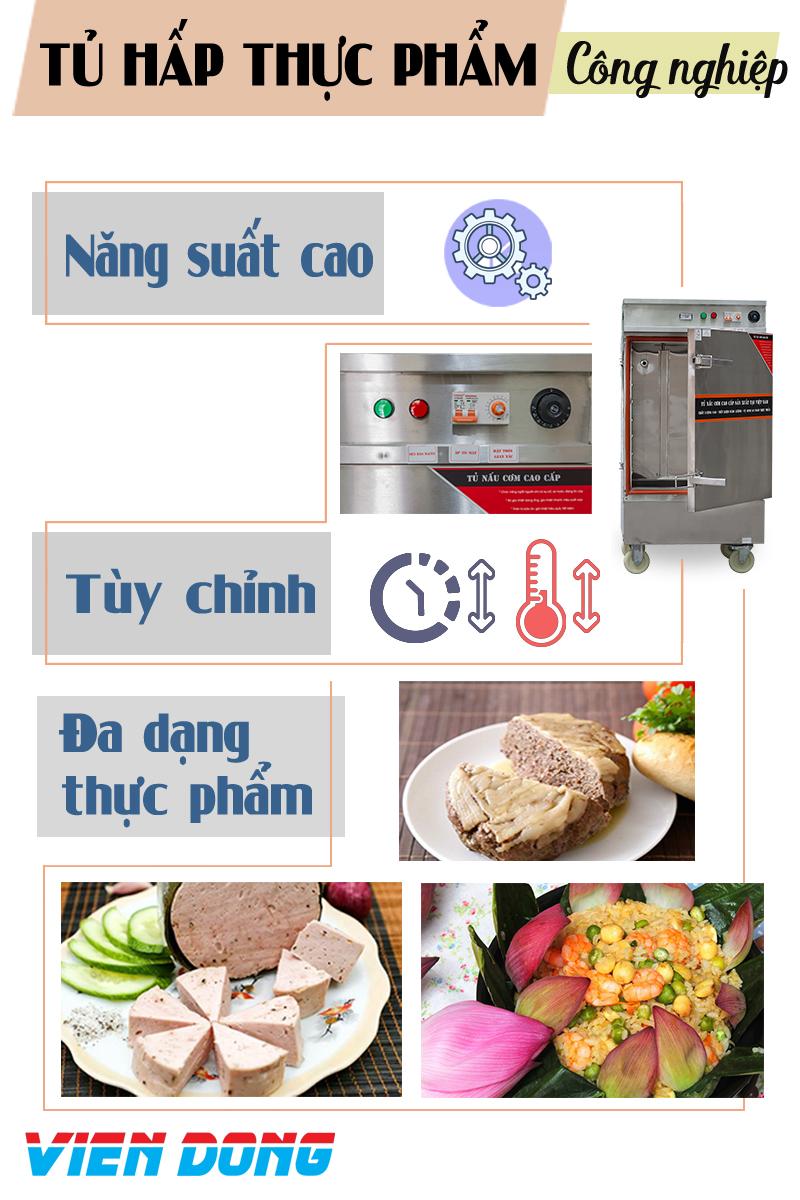 tủ nấu cơm inox điện Viễn Đông