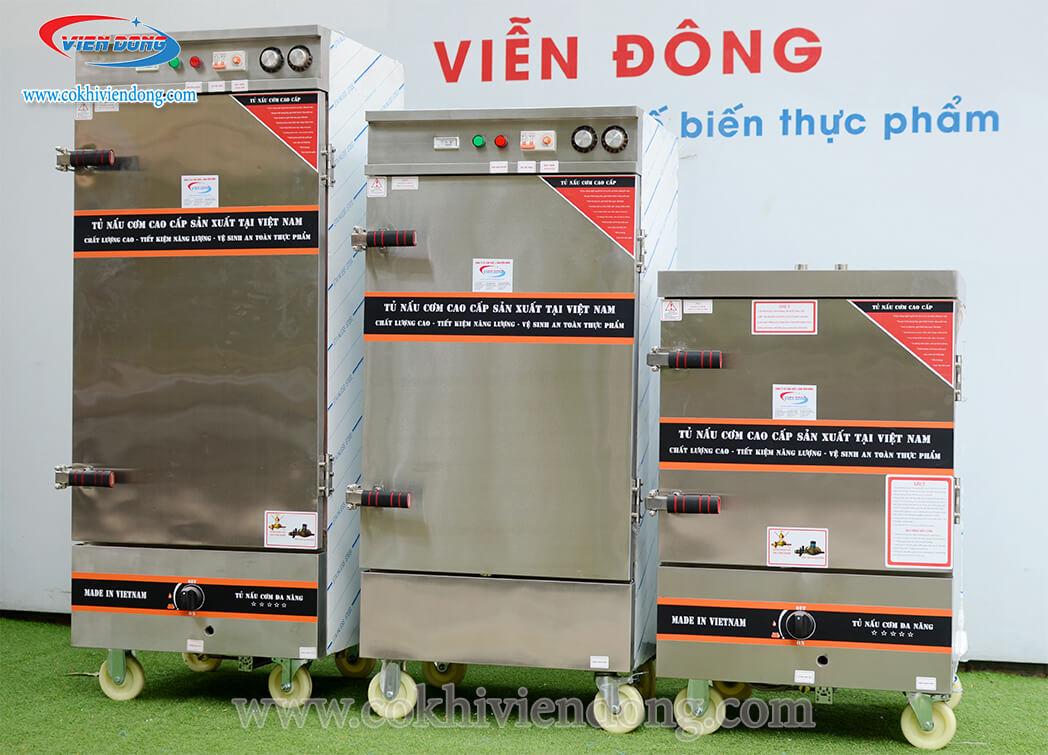 Dòng tủ hấp giò chả đa dạng khay Viễn Đông